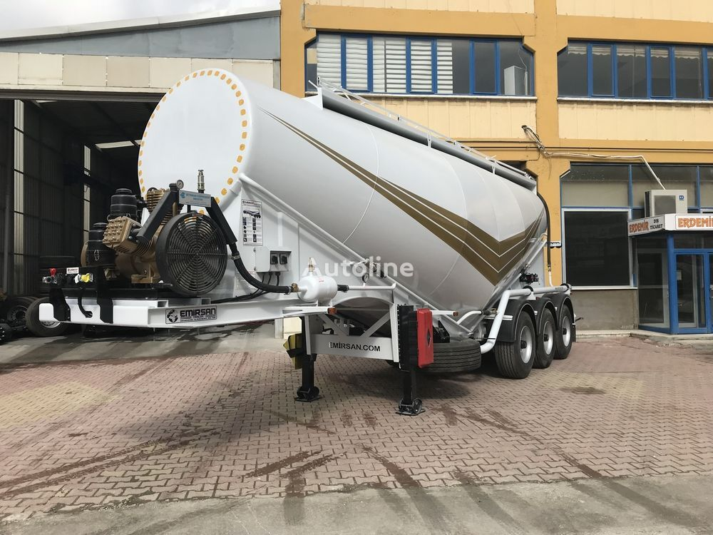 new EMIRSAN Cement Bulker Trailer with Electrical Compressor cement tank trailer