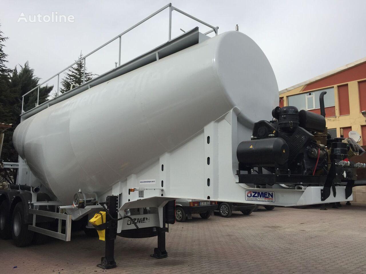 new Ozmen Damper 37-40 m3 CEMENT BULK SEMI TRAILER - DIESEL ENGINE cement tank trailer