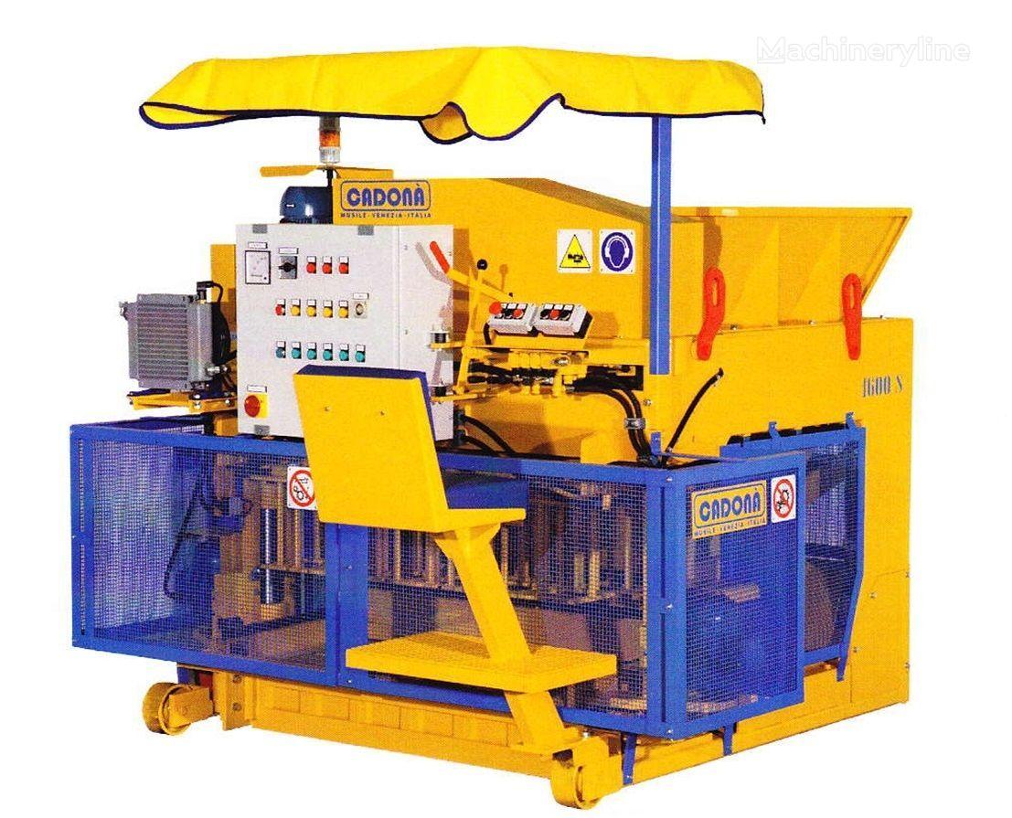 new Cadona 1600S concrete block machine