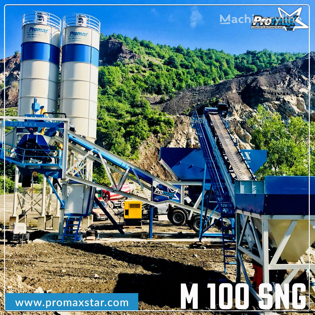 new PROMAX MOBILE CONCRETE BATCHING PLANT M100-SNG Single Shaft  concrete plant