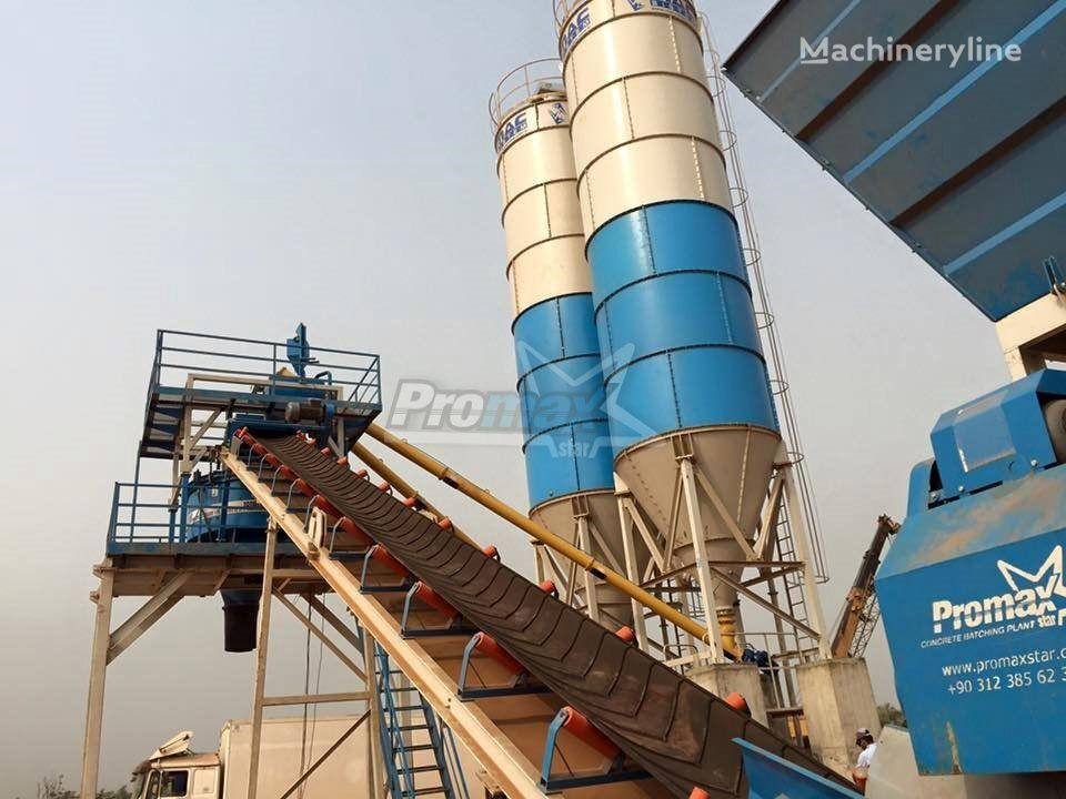 new PROMAX STAR C60-SNG Compact Concrete Batching Plant concrete plant