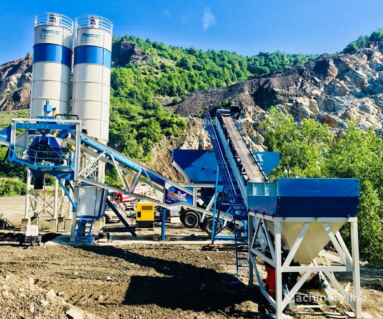 new PROMAX STAR MOBILE CONCRETE BATCHING PLANT M100-SNG Single Shaft  concrete plant