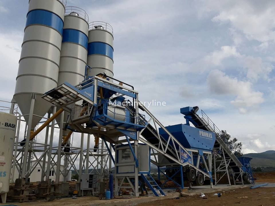 new PROMAX STAR Mobile Concrete Batching Plant M100-TWN Twin Shaft concrete plant