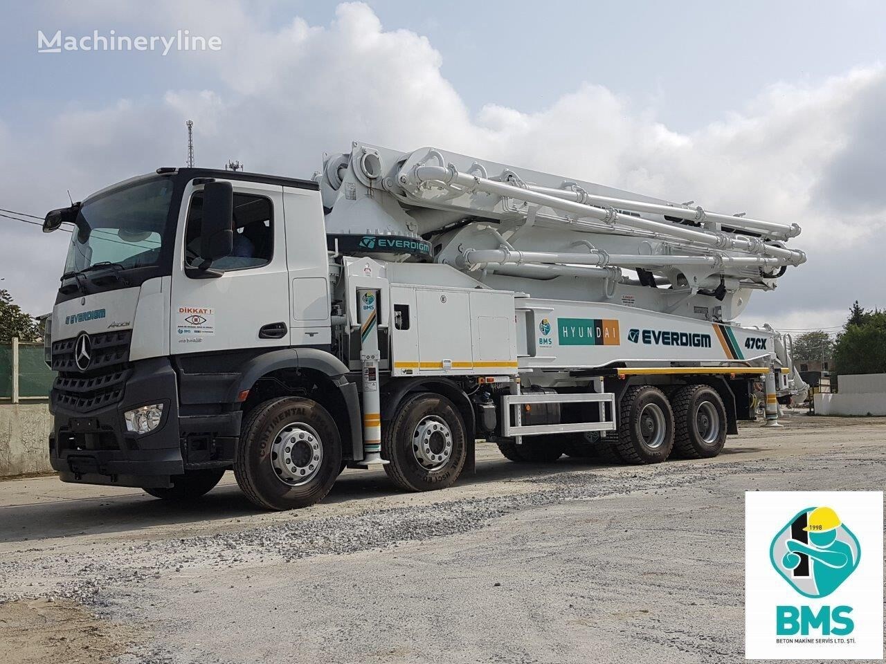 new MERCEDES-BENZ ECP 47 CX 5 concrete pump