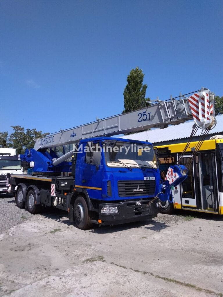 new KS 55727-S-22 on chassis MAZ mobile crane
