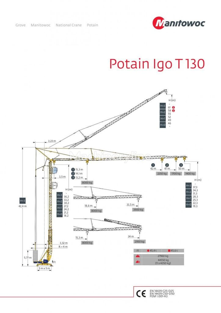 POTAIN IGO T 130 tower crane