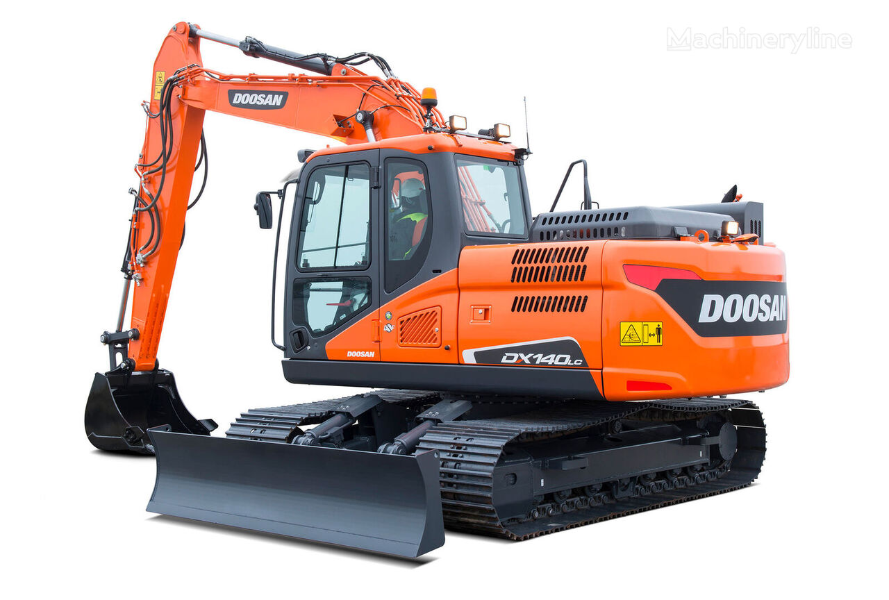 new DOOSAN DX 140LC tracked excavator
