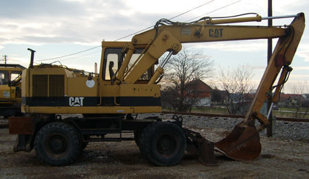 CATERPILLAR 206BFT wheel excavator