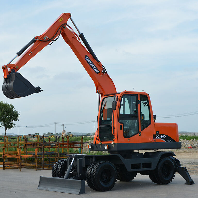 new DOOCUN DC90 wheel excavator