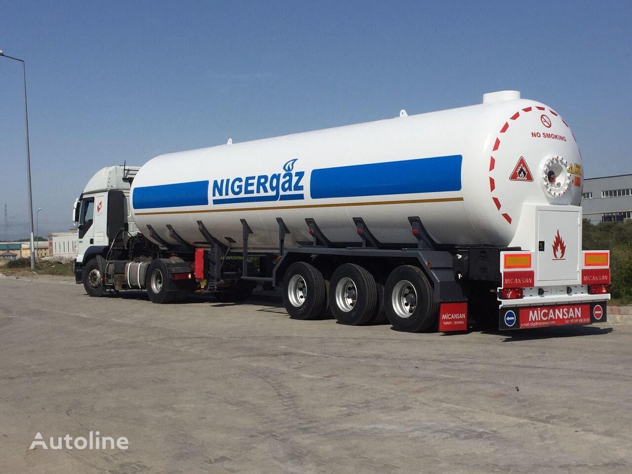new Micansan 2018 57 M3 2+ 1 AXLES CIF LAGOS / COTONEAU 35.500 EURO gas tank trailer
