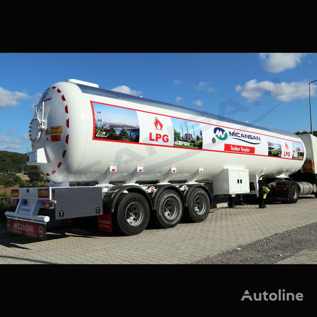 new Micansan BIG DISCOUNT 2019 70 m3 AFRICA TYPE LPG TRAILER gas tank trailer