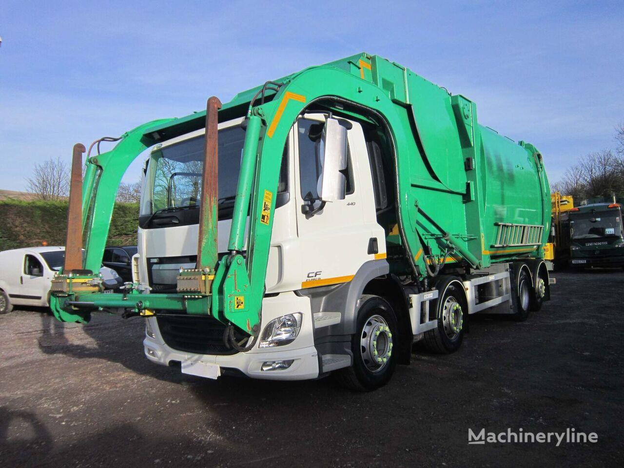 DAF CF 440 8X2 32TON REAR STEAR NTM FRONT LOADING REFUSE GARBAGE garbage truck
