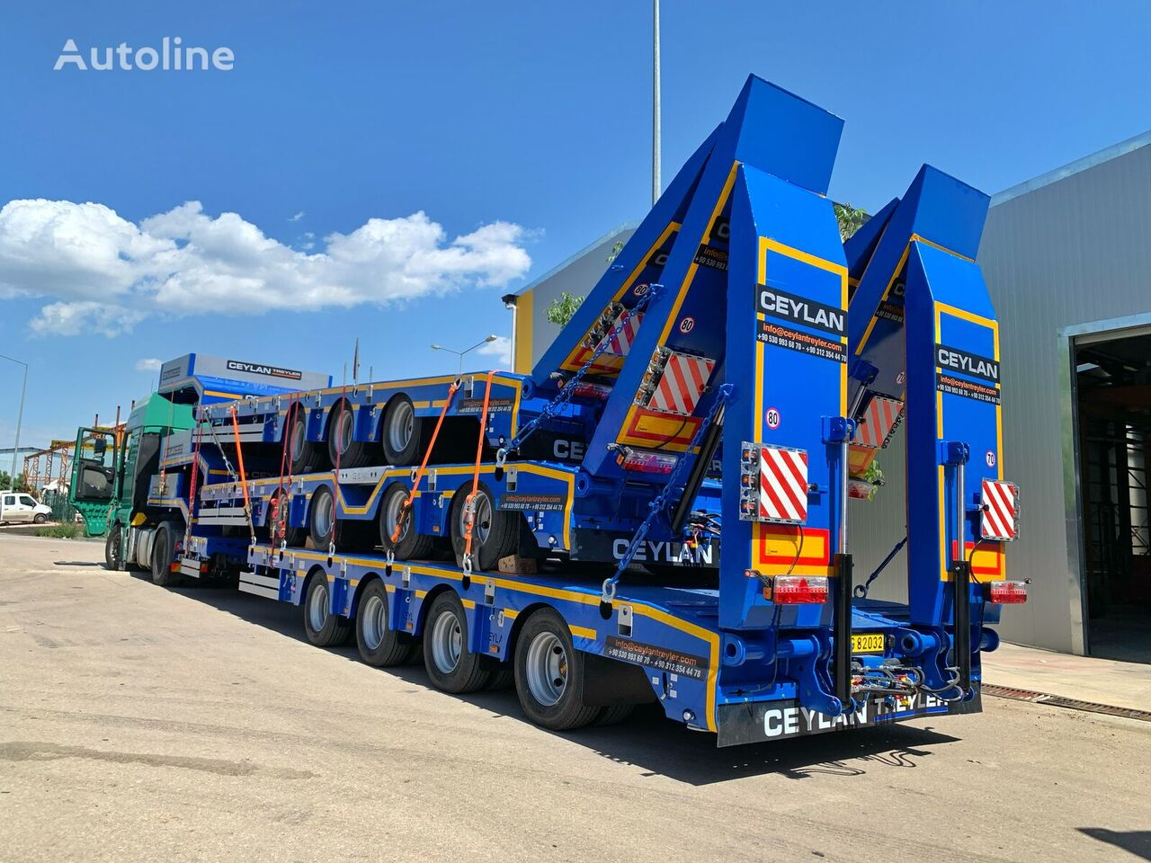 new CEYLAN 3 AXLE EXTENDABLE LOWBED low bed semi-trailer
