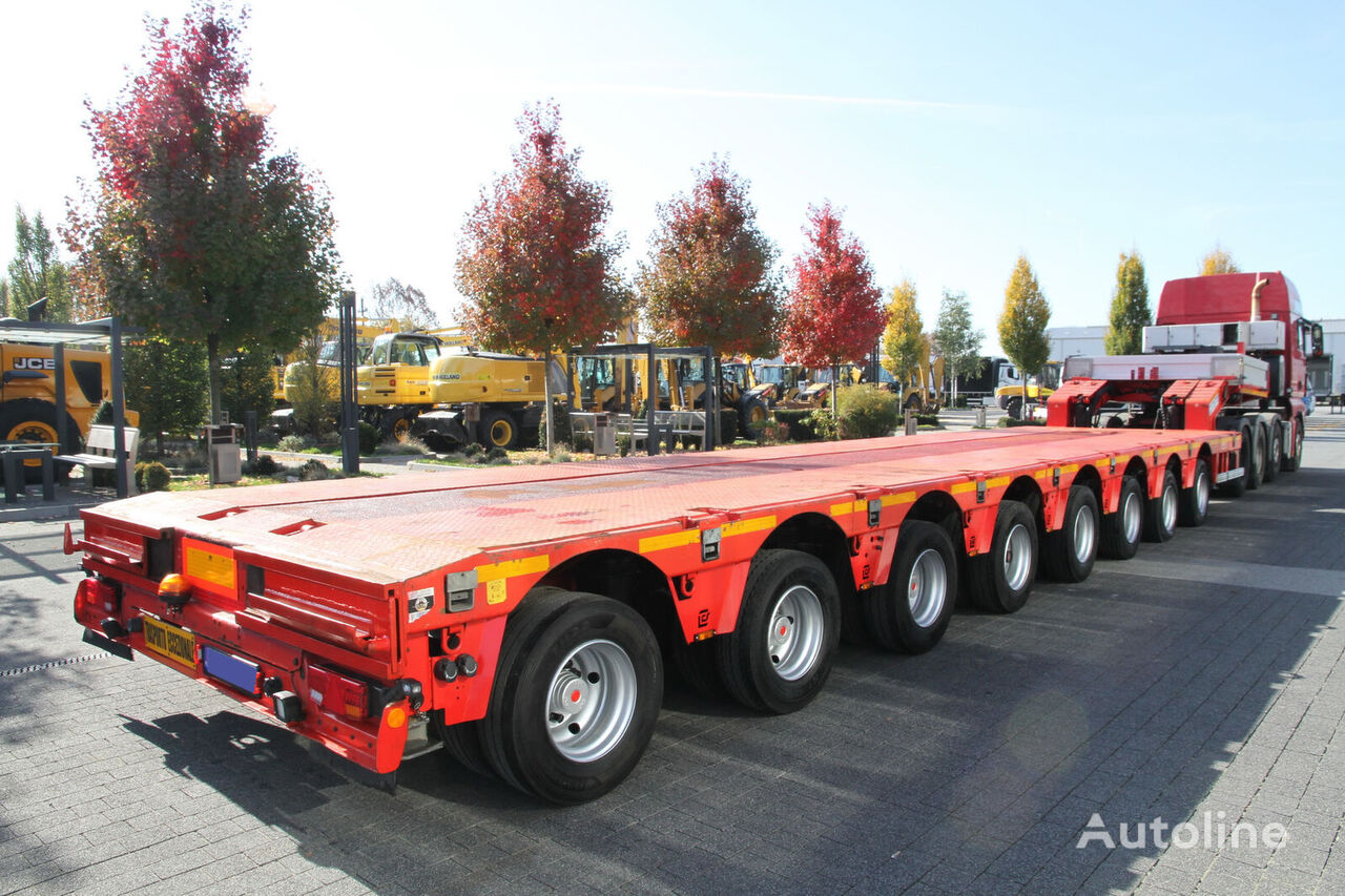 COMETTO max 18,5m - 3,5m / 8-steering axles / 105 tons / 8 lift axles  low bed semi-trailer