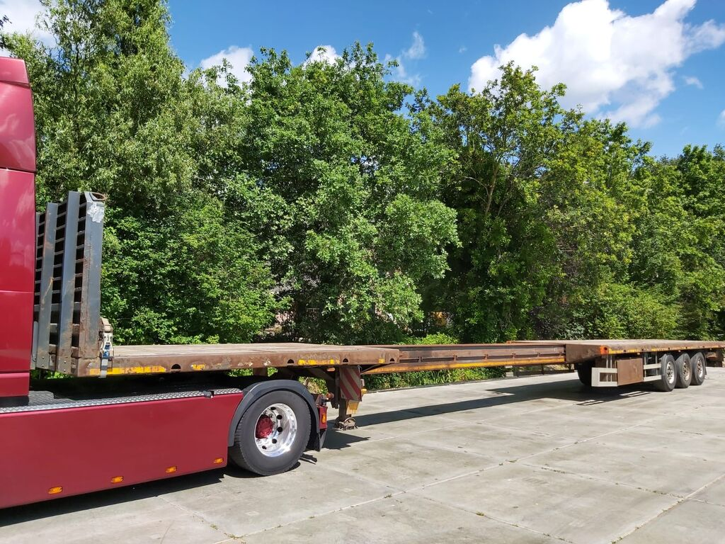 KASSBOHRER 7,5 extendable twistlocks platform semi-trailer