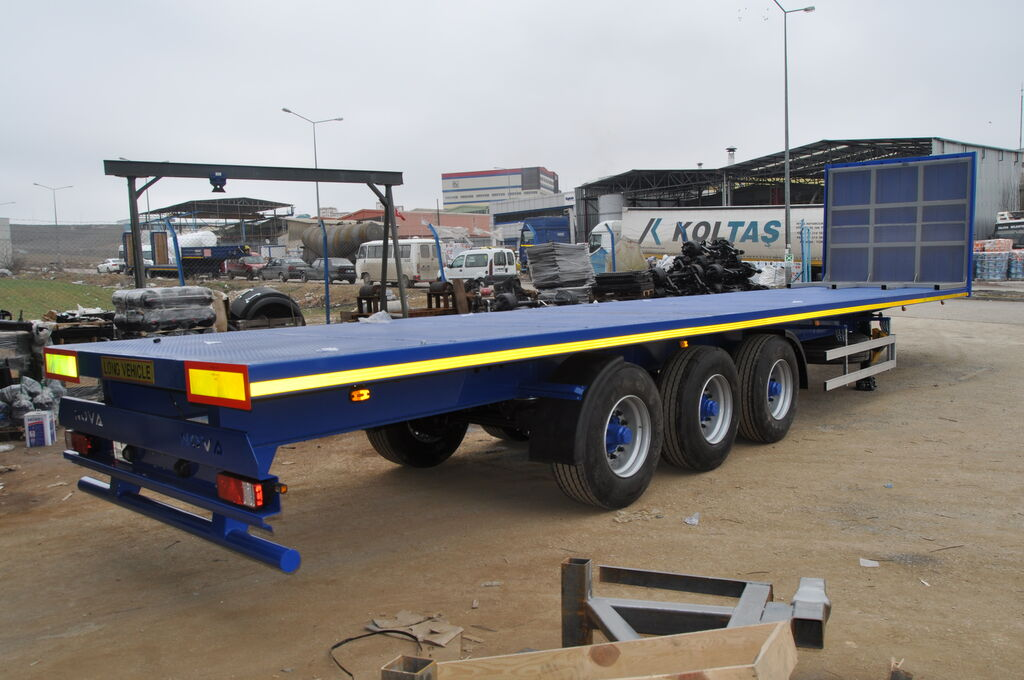new NOVA Flatbed Container Trailer 20 to 45 ft Loading platform semi-trailer