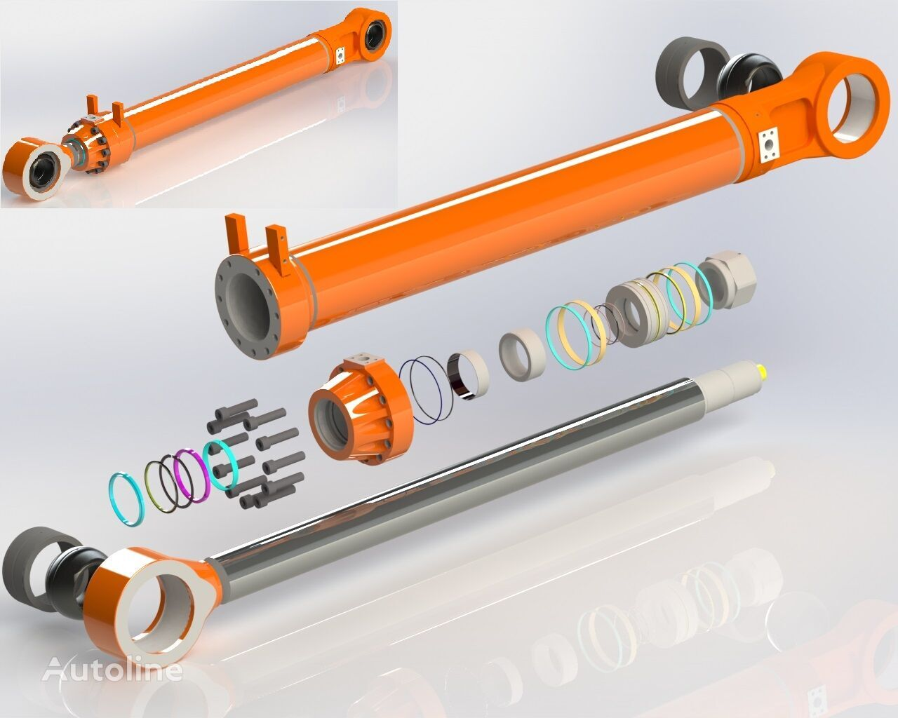 HITACHI BOOM / ARM / BUCKET CYLINDERS hydraulic cylinder for HITACHI EX3600 excavator for parts