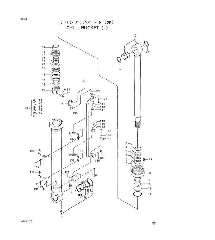 new HITACHI BUCKET CYLINDER hydraulic cylinder for HITACHI EX 5600 excavator