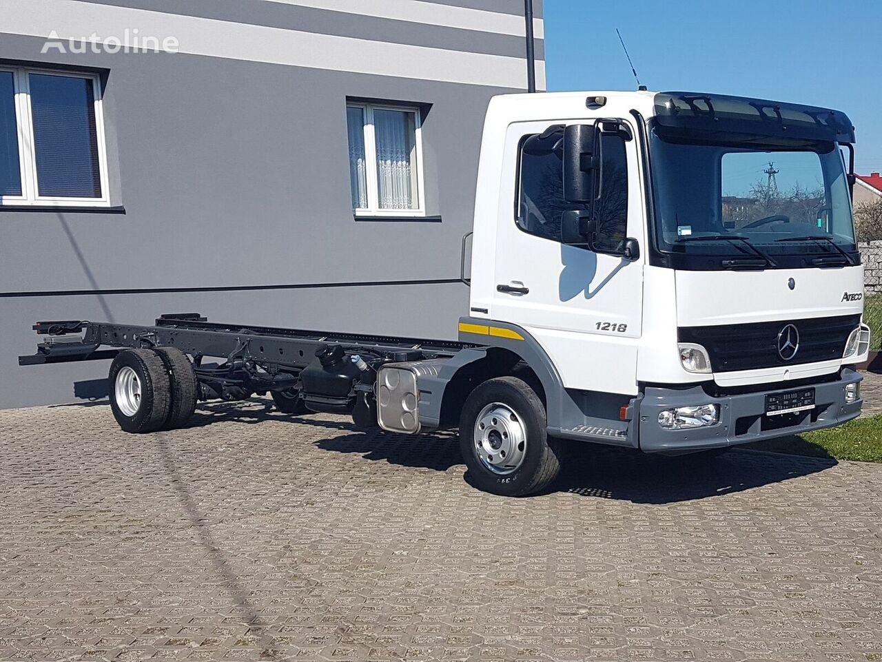 MERCEDES-BENZ ATEGO 1218 RAMA DO ZABUDOWY 4x2 BLUTEC 5 MANUAL WIDELEC ROZSTAW  chassis truck
