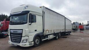 DAF 480 curtainsider truck + curtain side trailer