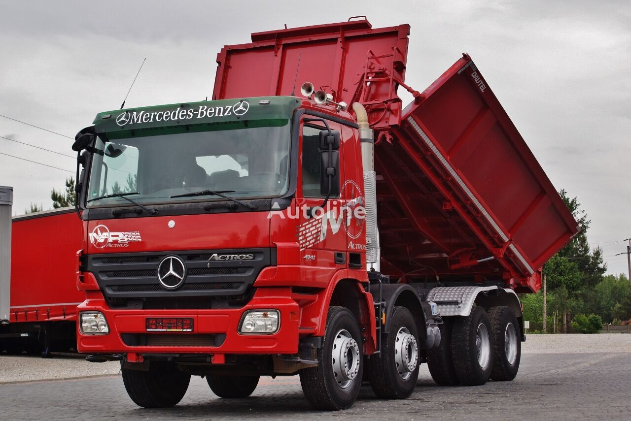MERCEDES-BENZ ACTROS 4141 8X4 3 SIDE KIPPER DAUTEL BORDMATIC EURO 5 / IMPORT G dump truck