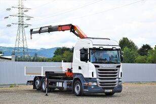 SCANIA R400 Pritsche 6,20m + PK 13000B + FUNK ! flatbed truck