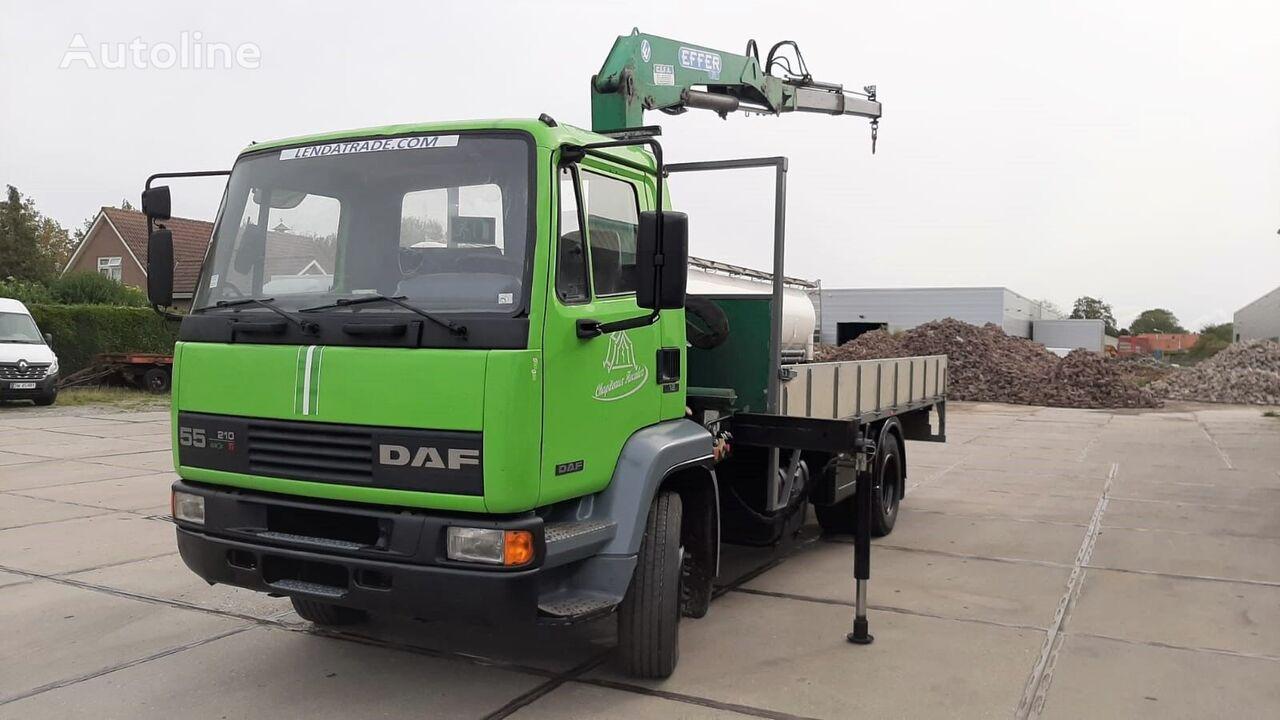 DAF 55.210 Ti Full Spring + Crane Effer 75/2 flatbed truck