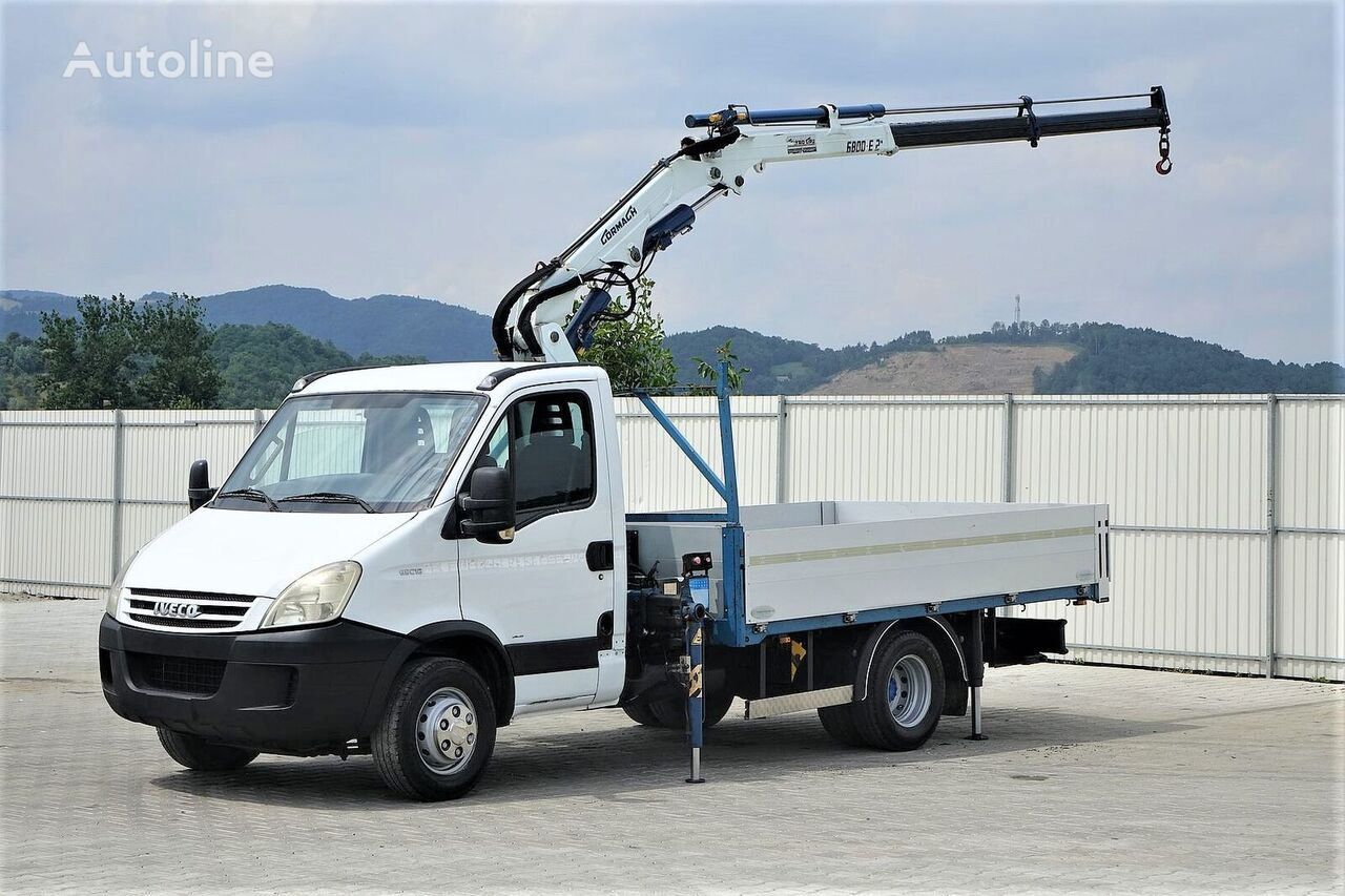 IVECO Daily 65C18 Pritsche 3,70m + Kran * Topzustand! flatbed truck