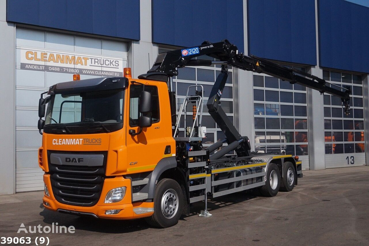 DAF FAN CF 430 HMF 21 ton/meter laadkraan hook lift truck