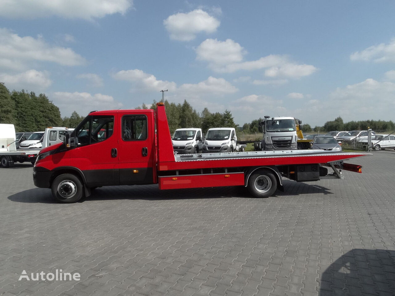 new IVECO Daíly 70C18/P Schiebeplateau AHK Finanzierung tow truck