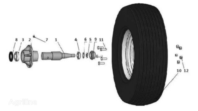 Unia, Akcent 6,7,9,12 tyre for trailer agricultural machinery